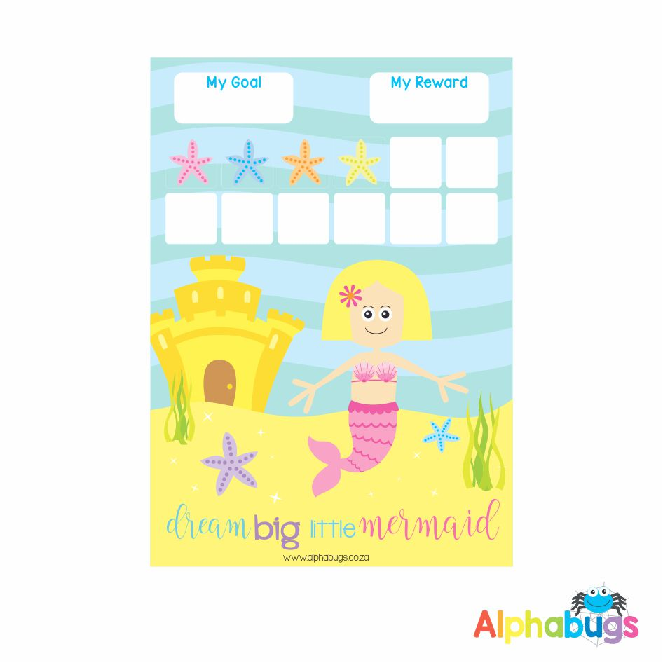 Magnetic Reward Chart – Magical Mermaids Blonde