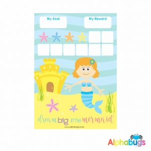 Magnetic Reward Chart – Magical Mermaids Redhead
