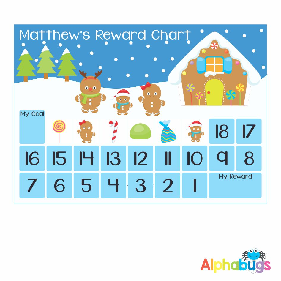 Magnetic Advent Calendar – Gingerbread Family