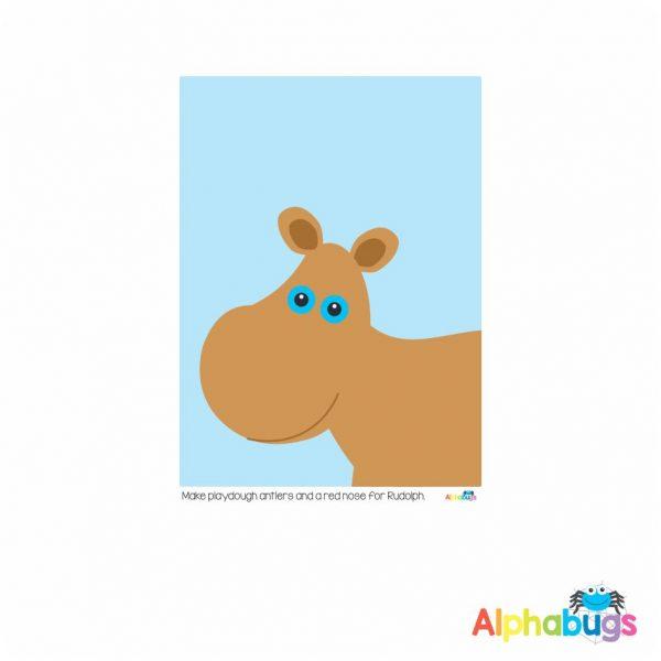 Playdough Mat – Christmas Characters 2
