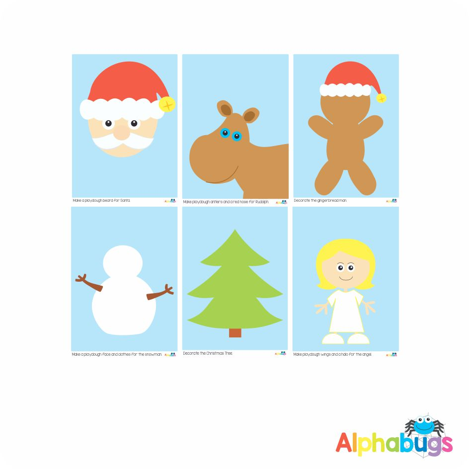 Playdough Mat – Christmas Characters – All