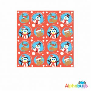 Wrapping Paper – Snow Balls Red 85cm