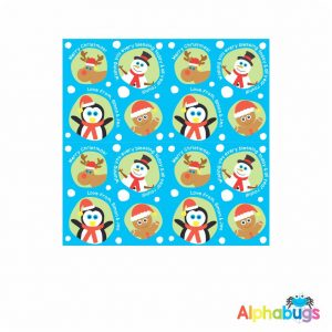 Wrapping Paper – Snow Balls Blue 85cm