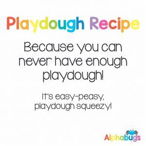 .Playdough Recipe