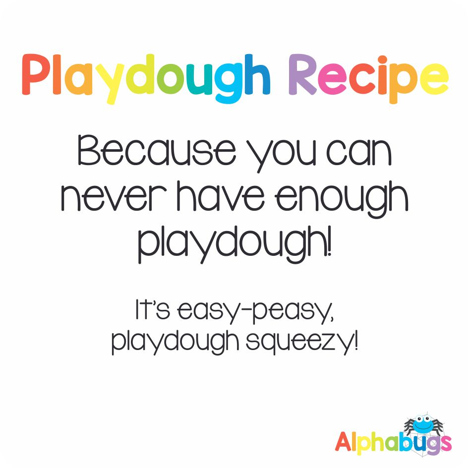 Playdough Recipe (No cooking required!) | Alphabugs
