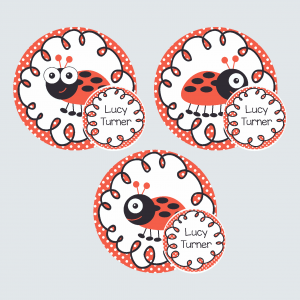 Zip Tags – Little Ladybug