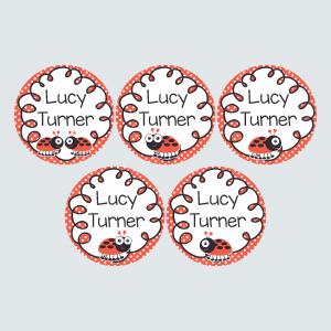 Large Round Labels – Little Ladybug