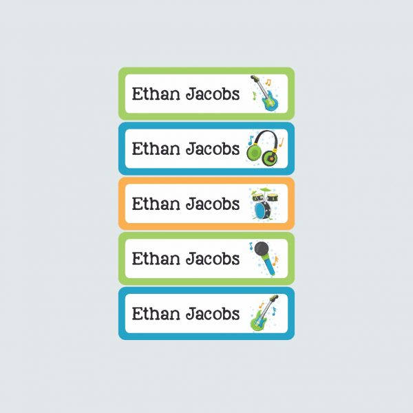 Small Name Labels – Be a Rockstar!