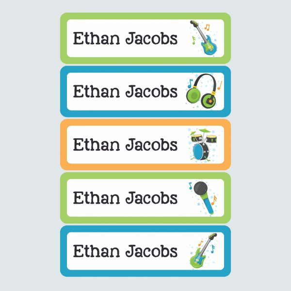 Large Name Labels – Be a Rockstar!
