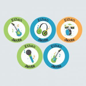 Large Round Labels – Be a Rockstar!