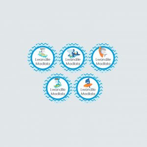 Small Round Labels – Shark Attack