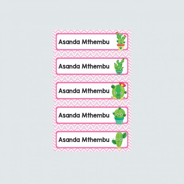 Small Name Labels – Cactus Makes Perfect