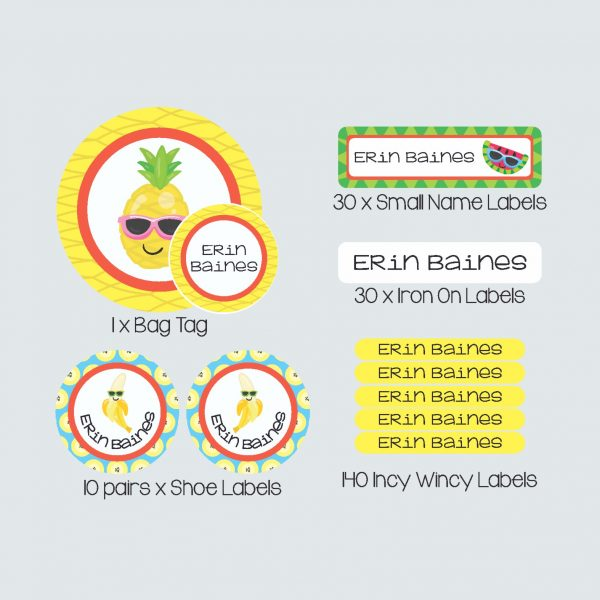 Essential Kids Label Pack – Cutie Fruity