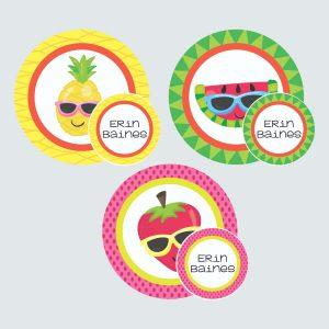 Zip Tags – Cutie Fruity