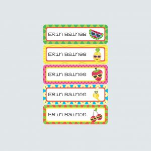 Small Name Labels – Cutie Fruity