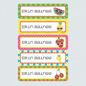 Large Name Labels – Cutie Fruity
