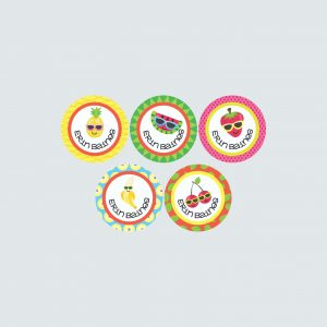 Small Round Labels – Cutie Fruity