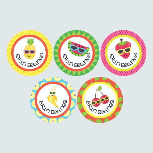 Large Round Labels – Cutie Fruity
