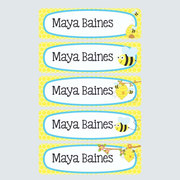 Large Name Labels – Busy Bees