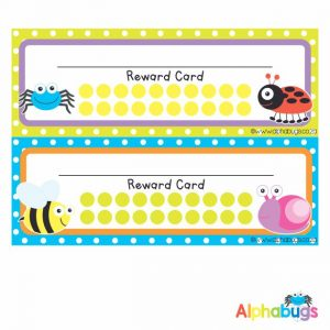 School Reward Cards – Alphabugs
