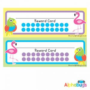 School Reward Cards – Flamingos and Parrots
