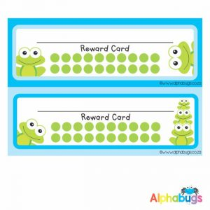 School Reward Cards – Frogs