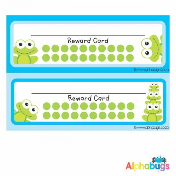 School Reward Cards – Frogs