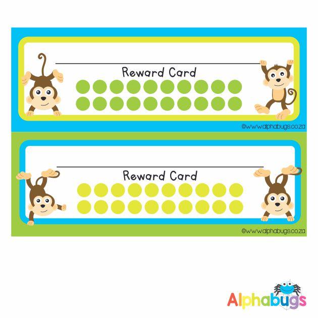 School Reward Cards – Monkey Mischief