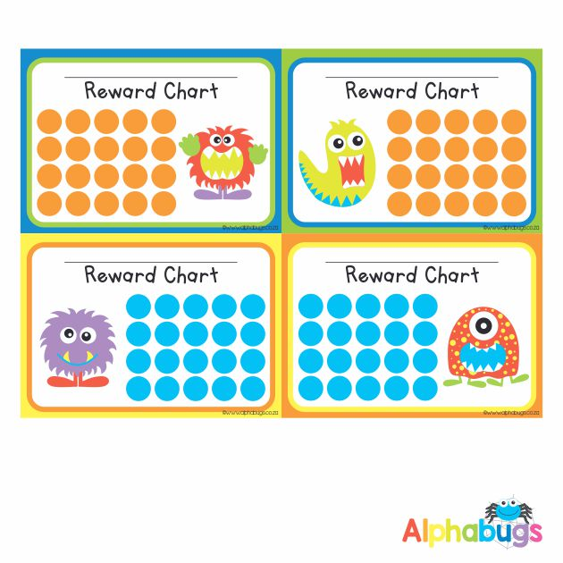 School Reward Chart – Monstrous Monsters