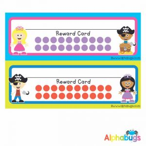 School Reward Cards – Princesses and Pirates