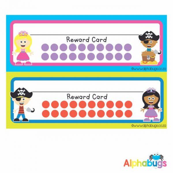 School Reward Cards – Princesses and Pirates