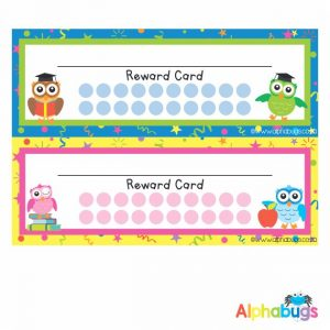 School Reward Cards – Wise Owls