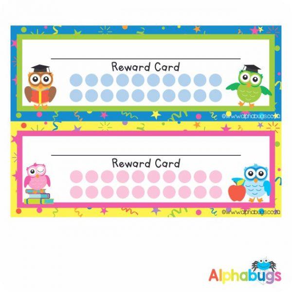 School Reward Cards – Wise Owls