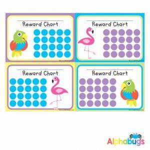 School Reward Chart – Flamingos and Parrots