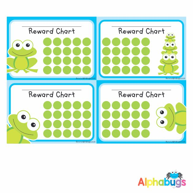 School Reward Chart – Frogs