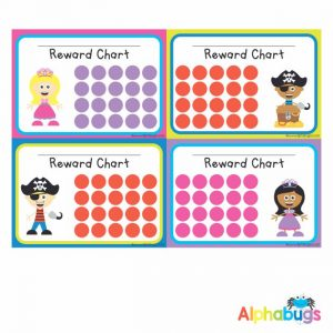 School Reward Chart – Princesses and Pirates