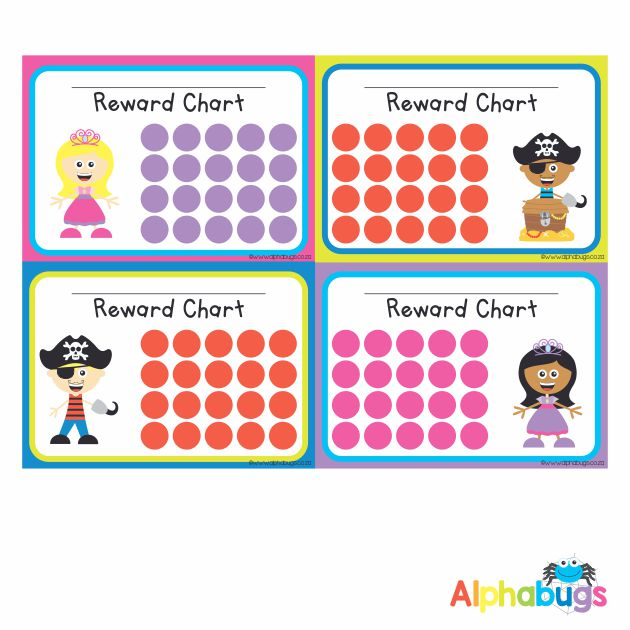 School Reward Chart – Princesses and Pirates