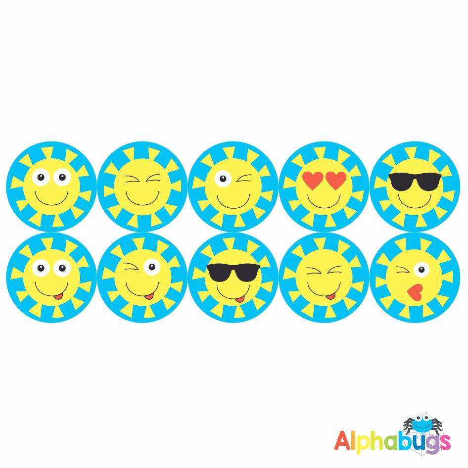 Smiley Stickers – Sun-sational Smileys