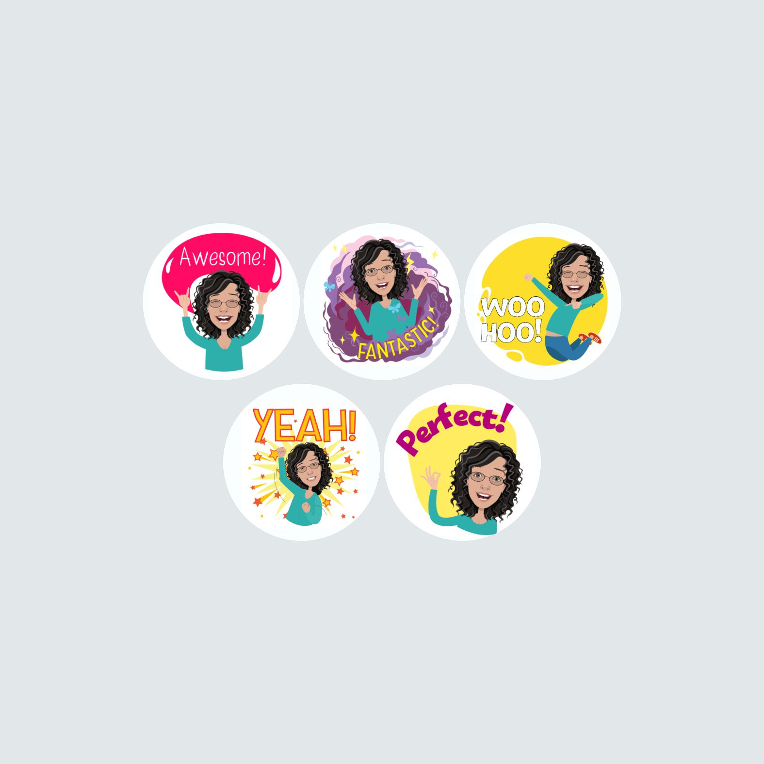 Personalised Avatar Stickers – Small