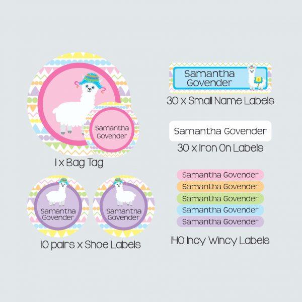 Essential Kids Label Pack – La La Llama
