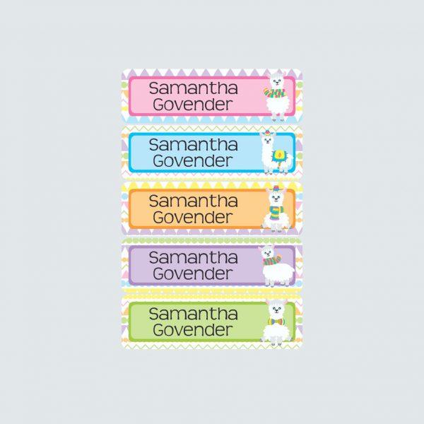 Small Name Labels – La La Llama