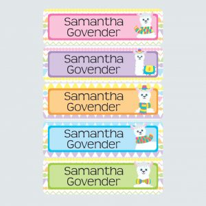 Large Name Labels – La La Llama