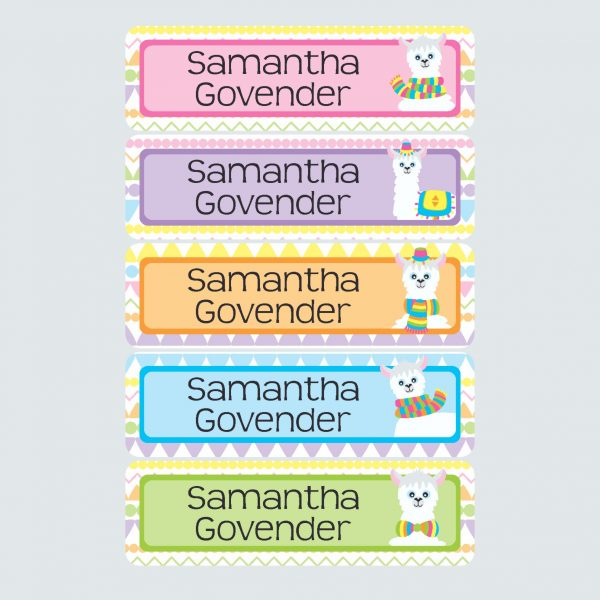 Large Name Labels – La La Llama