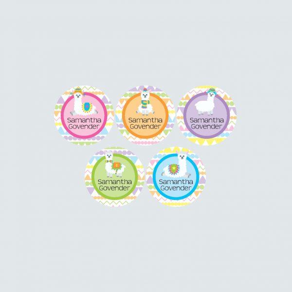 Small Round Labels – La La Llama