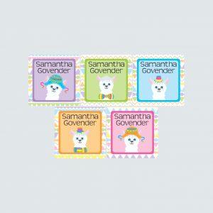 Square Labels – La La Llama