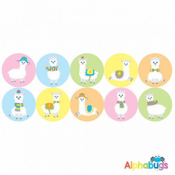 Themed Stickers – La La Llama 1