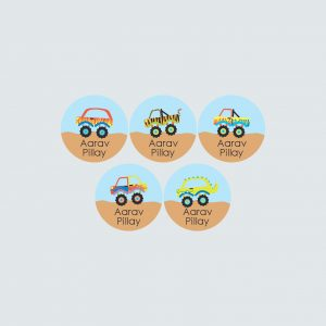 Small Round Labels – Monster Movers