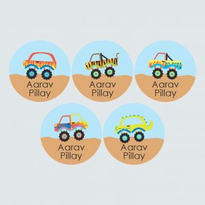 Large Round Labels – Monster Movers