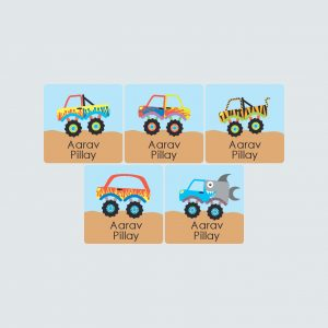 Square Labels – Monster Movers