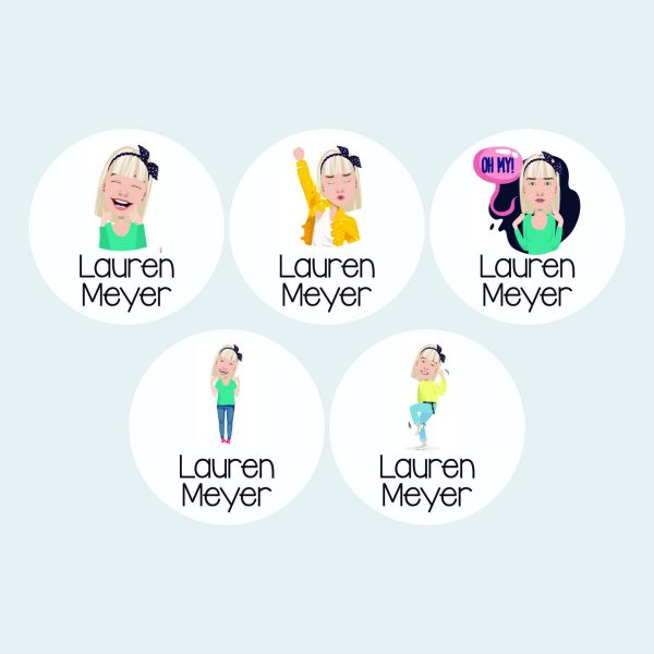 Large Round Labels